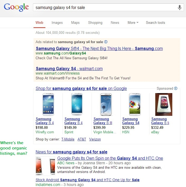 ecommerce seo google results